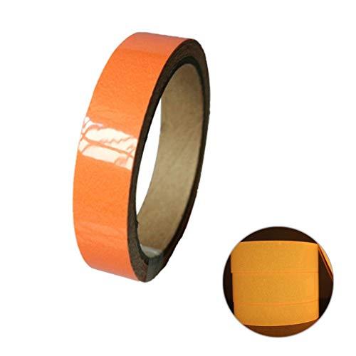 nd Phosphor Klebeband Markierungsband, Glow In The Dark, Warnband, Markierungsband, Nachleuchtend Band Wasserdicht, 10mm x 1m (Orange) ()
