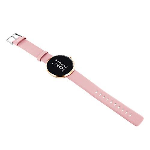 X-WATCH SIONA Smartwatch Damen iOS und Android Watch - Damenuhr rosegold Aktivitätstracker Damen elegant Fitnessarmband mit Herzfrequenz Fitness Uhr mit Schrittzähler - 2