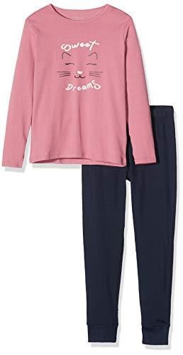 NAME IT Baby-Mädchen 13177801 Zweiteiliger Schlafanzug, Mehrfarbig(Heather RoseHeather Rose), 98 (Herstellergröße: 98-104)