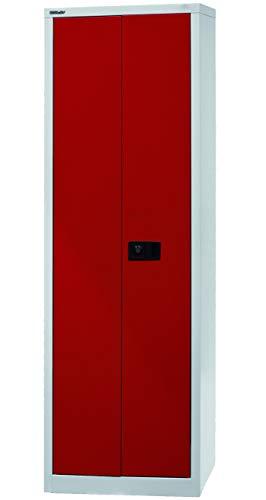 Bisley Aktenschrank abschließbar in grau rot Metallschrank Stahlschrank Werkzeugschrank...