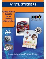 A4 Inkjet Gloss Vinyl Self Adhesive Sticker Paper x20