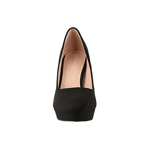 Elara Damen Pumps | Bequeme High Heels | Vintage-Style | Abendschuh Trendy | Chunkyrayan | E22360 Black-37 - 4