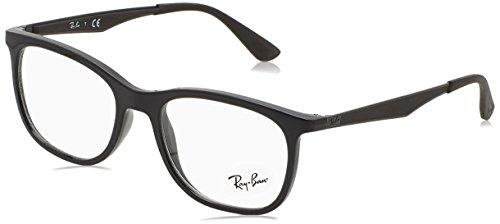 Rayban Herren Brillengestell RX7078, Schwarz (Shiny Black), 51