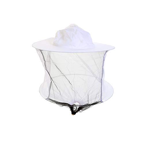 Imkerhut mit Schleier, weiße Baumwolle -