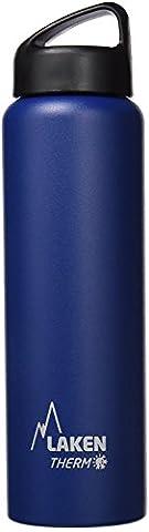 Bouteille isotherme Classique de Laken en acier inoxydable avec isolation sous vide et goulot large 750 ml Bleu