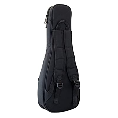 Tom & Will 66UKS Soprano Ukulele Gig Bag - Black with Navy Trim with Grey and Navy Piping - acoustic-guitar-cases, musician-bags