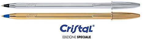 bic-set-6-penne-cristal-3-nere-fusto-argento-3-blu-fusto-oro