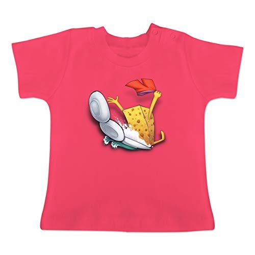 Up to Date Baby - Spülschwamm - Wasserrutsche - 6-12 Monate - Fuchsia - BZ02 - Baby T-Shirt Kurzarm