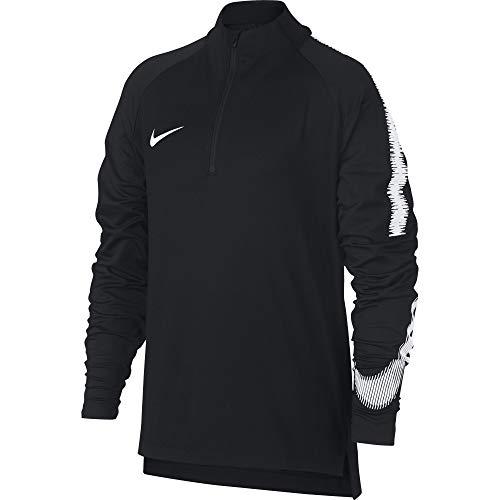 Nike Jungen Breathe Squad Drill Langarmshirt, Black/White, L -