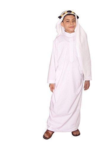 Kostüm Arabische Saudi Kinder - Egypt Bazar Kinder Araberkostüm Kostüm Araber Scheich Scheichkostüm Kinderkostüm, weiß (110-116 (4 bis 5 Jahre))