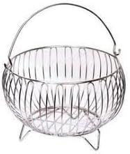 Devashree Stainless Steel Natural Fruit Basket With Handle (No - 2) - Medium