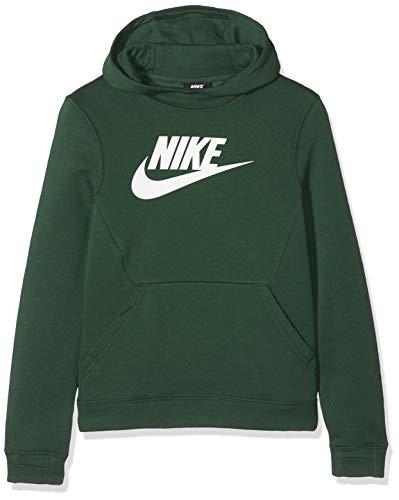 Nike Jungen B NSW PO Hoodie Club FLC HBR Sweatshirt, fir/Black/White, XS Club-hoodie Sweatshirt