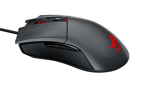 ASUS ROG Gladius Ergonomic Optical FPS Gaming Mouse with Programmable Buttons, DPI Switch and Detachable Cable for All Grip Types