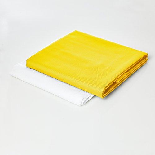 Lumaland Sitzsackhülle ohne Füllung Luxury Riesensitzsack XXL Sitzsack Bezug Hülle PVC Polyester 140 x 180 cm Gelb