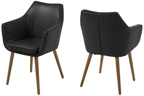 AC Design Furniture Stuhl Trine, B: 58 x T:58 x H: 84 cm, Metall, Schwarz