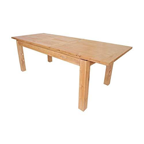 CLEA Table a manger extensible en teck massif 6 a 8 personnes 180-230x90 cm - Bois naturel