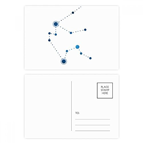 DIYthinker Wassermann Konstellation Zeichen Stern Postkartenset Geburtstag dankt Karte Mailing Side 20pcs 5.7 Zoll x 3.8 Zoll Mehrfarbig - Wassermann Karte Geburtstag