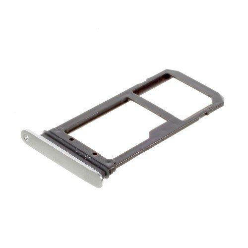 jbTec Micro-SD/SIM-Tray passend für Samsung Galaxy S7 - Karten-Halter Schlitten Slot Handy-Karte Rahmen Karten-Fach, Farbe:Silber - Farbe Schlitten