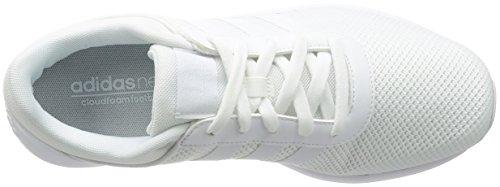 adidas - CLOUDFOAM RACE, Scarpe fitness Uomo Bianco (Blanco (Ftwbla / Ftwbla / Ftwbla))