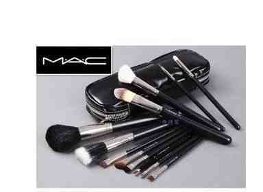 Mac 12pc set de pinceaux de maquillage professionnels avec pochette