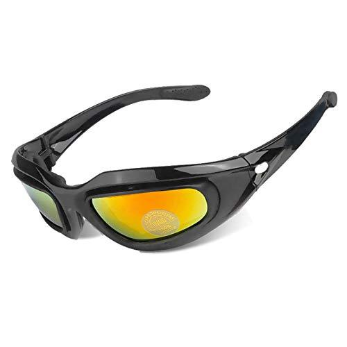 Msa Matte (Sonnenbrille Polarisiert Motorradbrillen Motorradbrillen Im Gelände Fahren Motorradbrillen Matte Black Damen Herren)