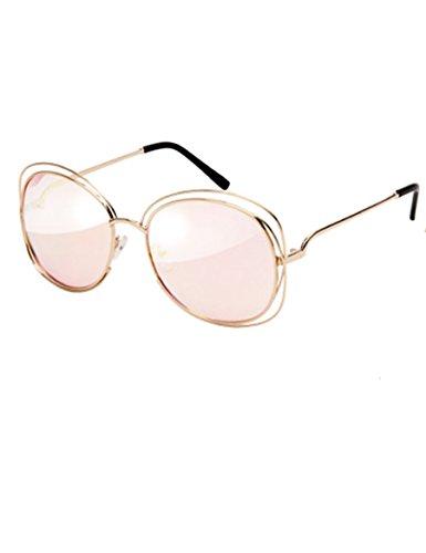 Große Rahmen Sonnenbrille Metall Rahmen Farbe Film Reflektierende Sonnenbrille Doppel Ring Runde Sonnenbrillen ( Farbe : 4 )