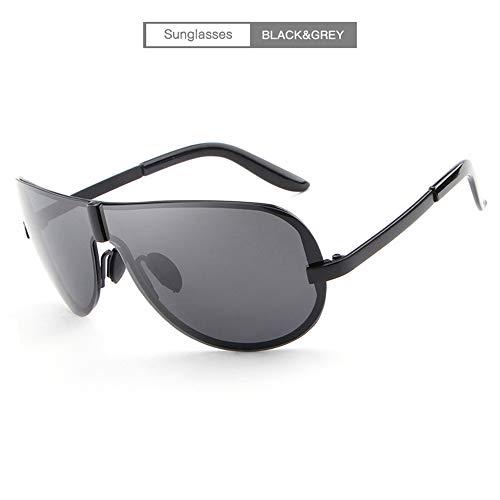 Sonnenbrille Herren Polarisiert Sonnenbrille Damen Unisex Aviator Pilotenbrille Legendäre-Collection Metallrahmen 100% UV400 Schutz Mit Beeindruckende Farbverstärkung Und Klarheit,Black