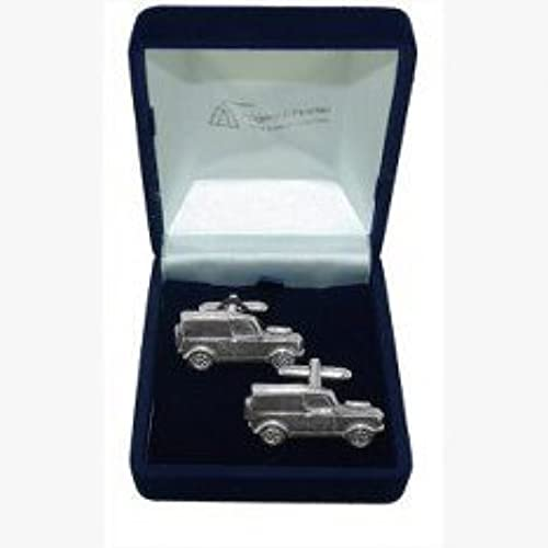 Classic Car Landrover Cufflinks, Wedding Gift, Best Man, Usher, Supplied In  Organza Bag By Pewter Jewellery
