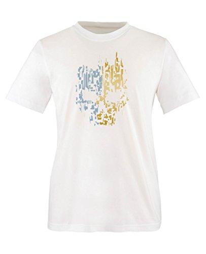 Comedy Shirts - Digital Skull - Jungen T-Shirt - Weiss / Gold-Eisblau Gr. 110/116