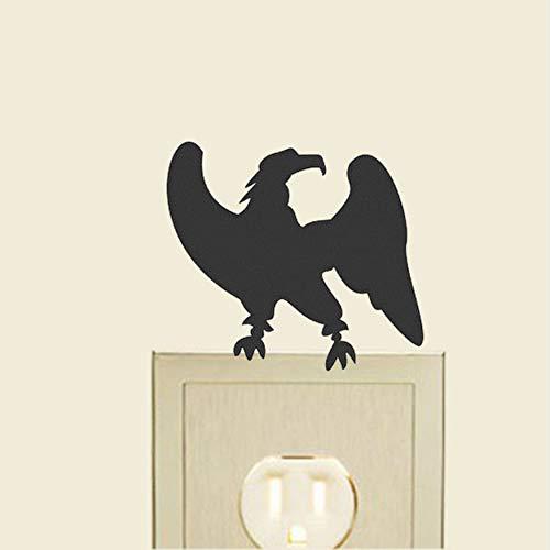 FQZ93IN Schwarzer Schalter Aufkleber Clever Eagle Animal Switch Aufkleber Mode Vinyl Wandtattoo Dekor 10X10Cm 3Pcs