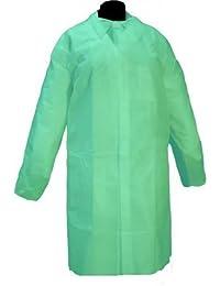 Bata desechable Verde en Polipropileno cierre velcro. Caja 50 uds