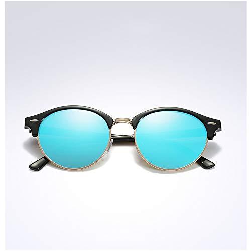 DTYZGE Herren Sonnenbrille Polarisierte runde Sonnenbrille Herren Frauen runde Brille Sonnenbrille Fahren semi randlose Brillen