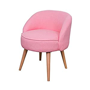 EXCLVEA Make-up Sitz für Schlafzimmer Startseite Moderner Akzent-Stuhl mit Massivholzbeinen und Polstersitzkissen for Wohnzimmer Schlafzimmer Dorm Wohnung (Farbe : Gelb, Größe : 54x70cm)