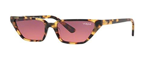 Vogue 0vo5235s 260520 53, occhiali da sole donna, giallo (brown yellow tortoise/pinkgradientviolet)