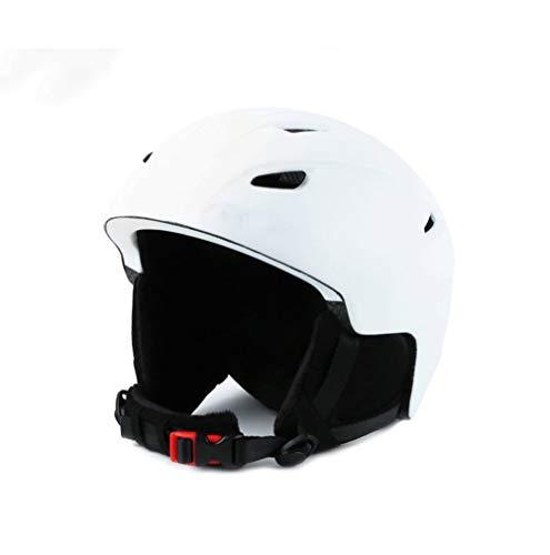SCJ Casque de Snowboard léger, Plusieurs ventilations, Taille Ajustable, Ski/vélo/Moto,White,L