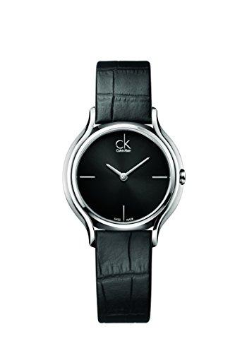 Calvin Klein Reloj Analogico para Mujer de Cuarzo con Correa en Cuero K2U231C1