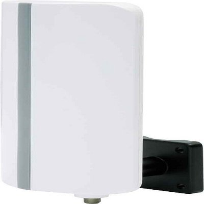 Telestar Antenna 3 aktive DVB-T Außenantenne mit Verstärker (inkl. Netzteil, Wand- und Mastbefestigungsset, Koaxkabel) weiss