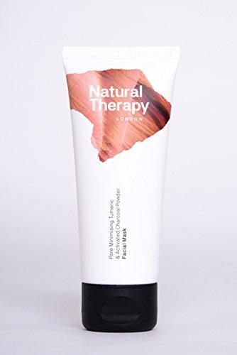 Natural Therapy London Kurkuma & Aktiviert Holzkohle Poren Minimieren Gesichts Maske