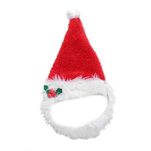 Glamour Girlz Weihnachtsmannmütze und Weihnachtsmann-Bart aus Kunstfell