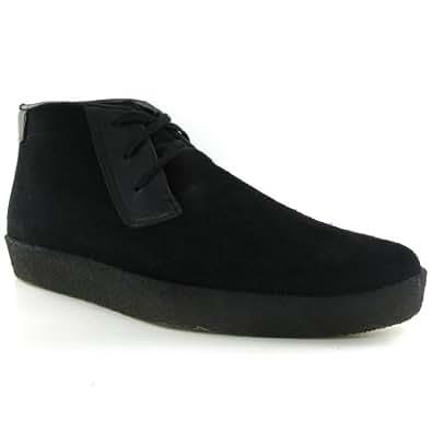 Clarks Ashcott Black Suede Mens Shoes Size 41.5 EU