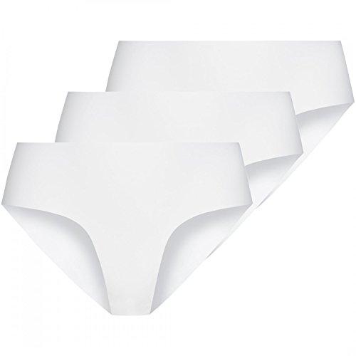 3 x Nina von C. Damen Secret Basic Minislip Slip Sport Farben zur Auswahl Weiß