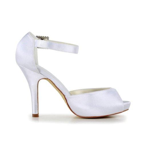 Jia Jia Wedding 37076 chaussures de mariée mariage Escarpins pour femme Blanc