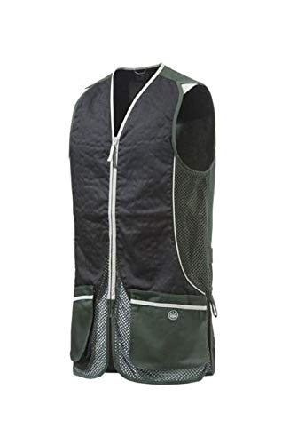 Beretta Herren 's New Fit Silber Taube Schießweste XXXL Hunter Green/Jet Black Sporting Clays Shooting Vest