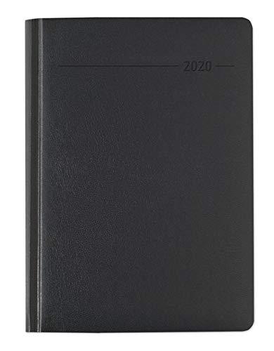 n schwarz 2020 - Bürokalender A5 - Cheftimer - 1 Tag 1 Seite - 416 Seiten - Balacron-Einband - Terminplaner - Notizbuch ()