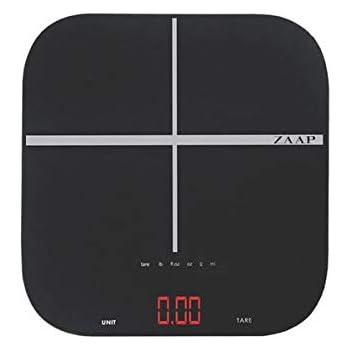 ZAAP EATSMART Kitchen /weighing scale IPX7 Waterproof rated( Black)