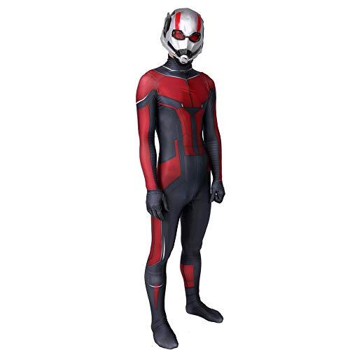 -Man Kostüm Superhelden Cosplay Verkleidung Halloween Mottoparty Strumpfhosen 3D Druck Spandex Onesies,Adult-XL ()