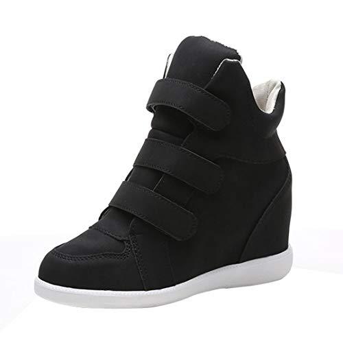 58495a8057867d SANFASHION Bottes Motardes Fourrées Femme Classique Boots Élégant Caussure  Velcro Pratique Bout Rond Femmes Automne Hiver