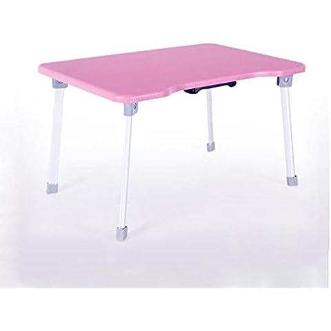 KHSKX Semplice piegatura, scrivania del computer notebook dormitorio, casa Banco per bambini , Pink