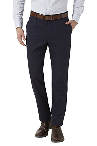 Peter England Navy Slim Fit Trousers & Chinos_ptf51503723_28
