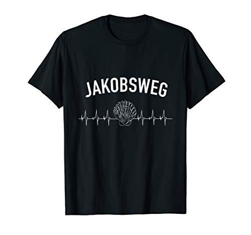 Jakobsweg Pilger T-Shirt mit Jakobsmuschel Outfit